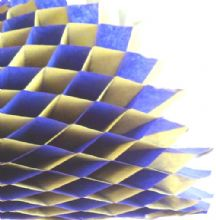 Honeycomb paper x 1. 17cm x 25cm. Blue/Yellow Duo colours